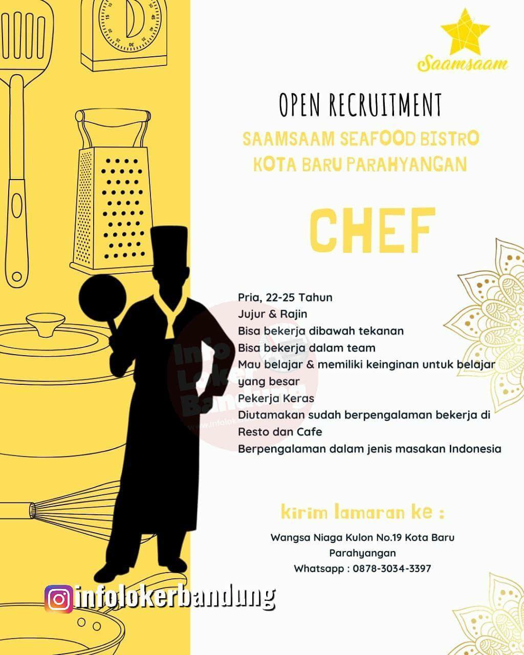 Lowongan Kerja Chef Saamsaam Sea Food Bistro Bandung Desember 2019