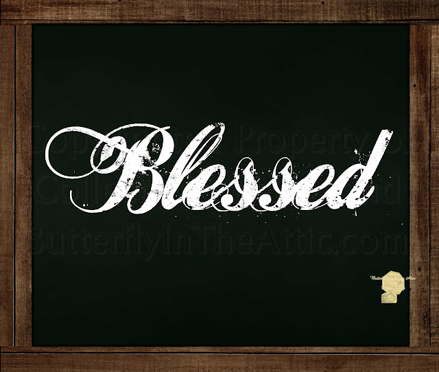Blessed - Chalkboard Messages