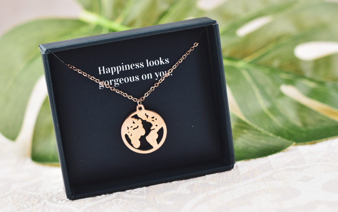 Happiness Boutique - Trees for the Future - Schmuck Kette Rosegold - Bäume pfllanzen