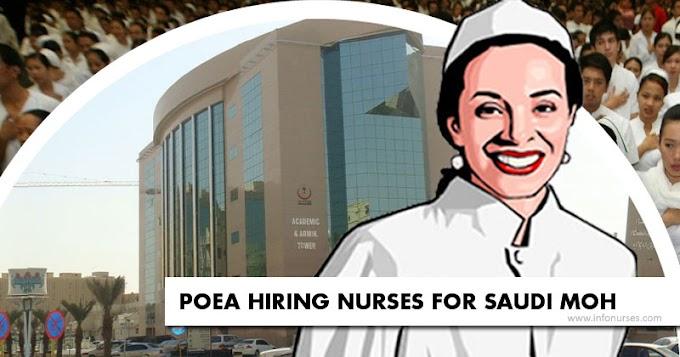 POEA hiring nurses for Saudi MOH, salary starts at P53,000