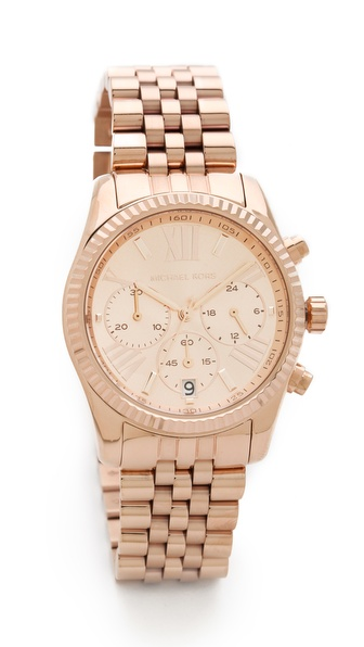 Michael Kors Rose Gold Lexington watch