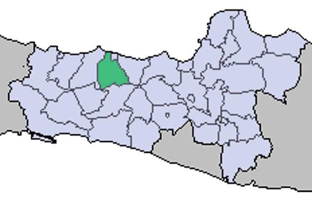 Gambar Peta Letak Kabupaten Pekalongan