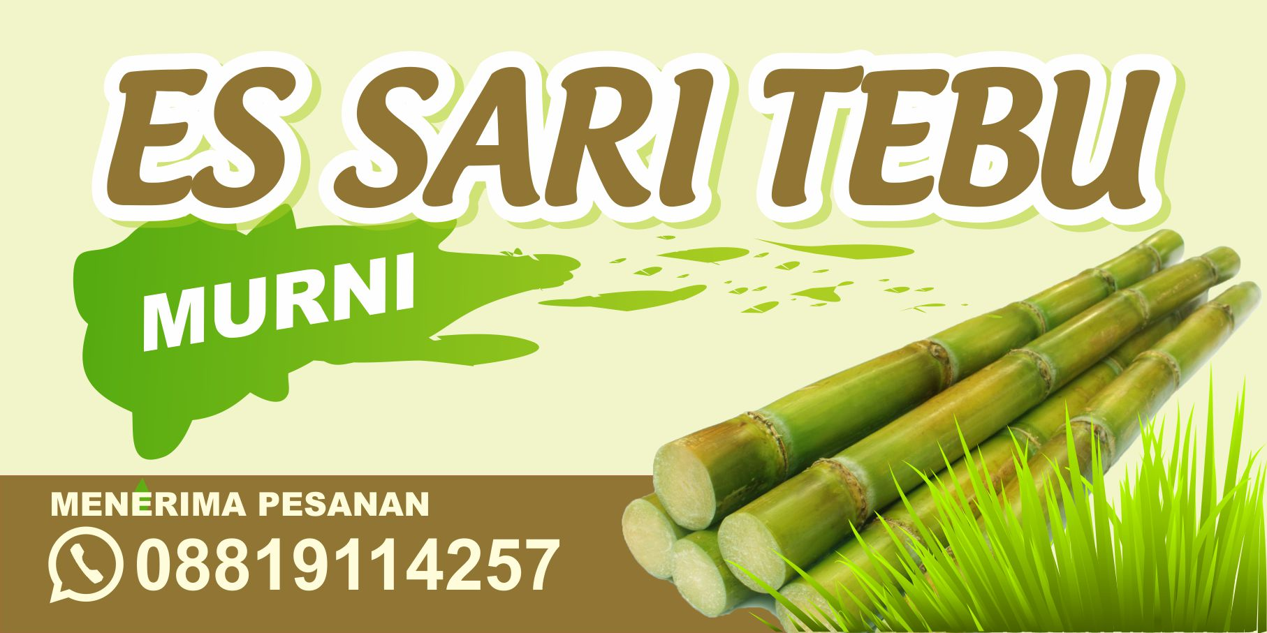 Download Template Desain Banner Es Tebu CDR - Mas Vian