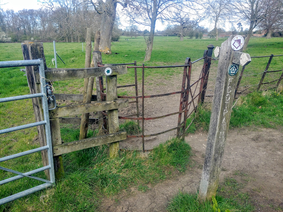 Go through the gate, mentioned in point 11 below, and take the right-hand fork