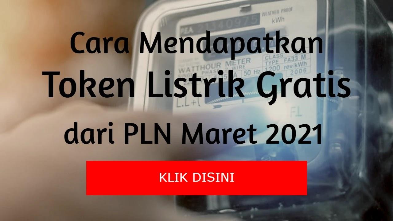 Cara Mendapatkan Token Listrik Gratis Stimulus PLN Bulan Maret 2021 via Online