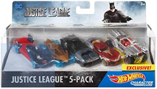 Click here to purchase Hot Wheels Justice League 5 Pack at Amazon!