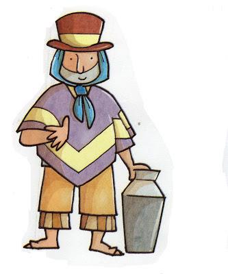 vendedores ambulantes de la época colonial de 1810