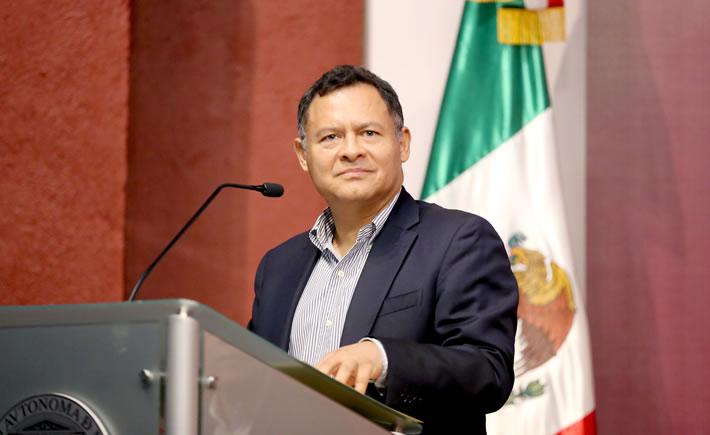 """Ernesto Acevedo participó este martes en el Foto:""""Diálogo Franco-Mexicano sobre las perspectivas de la Industria del Futuro en México"""". (Foto: Cortesía SE)"""