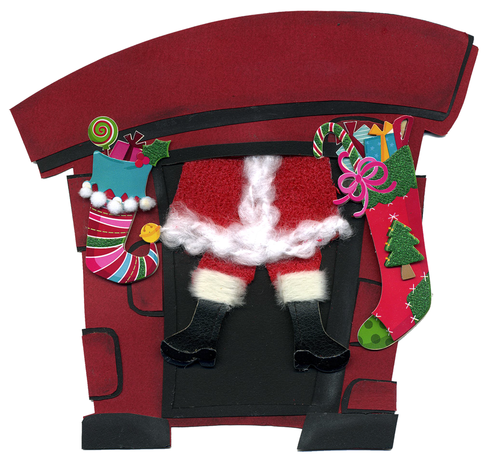 eridoodle designs and creations: Santa coming down the chimney