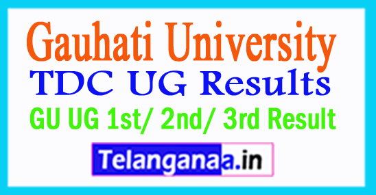 Gauhati University TDC UG Results GU UG 1st/ 2nd/ 3rd Result 2018