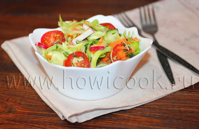 рецепт салата с редисом и капустой
