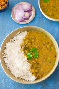 How to make vegan Panchmel Dal or mixed lentil soup at www.oneteaspoonoflife.com