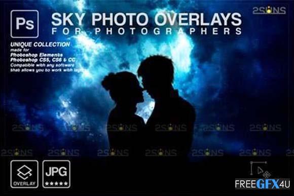Night Sky Photoshop Overlays