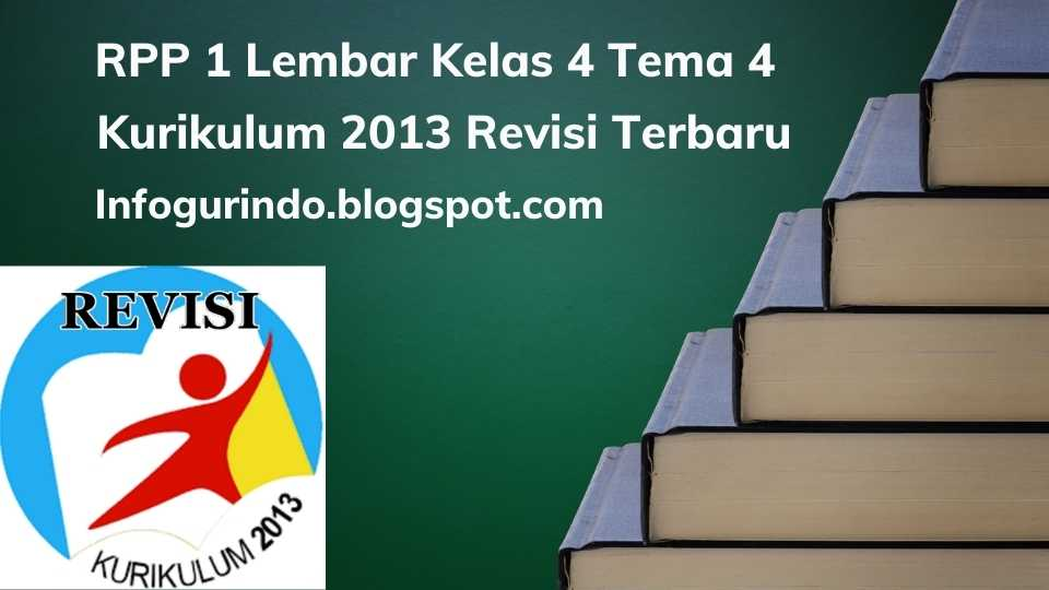 RPP 1 Lembar K13 Kelas 4 Tema 4 Semester 1 Revisi 2020