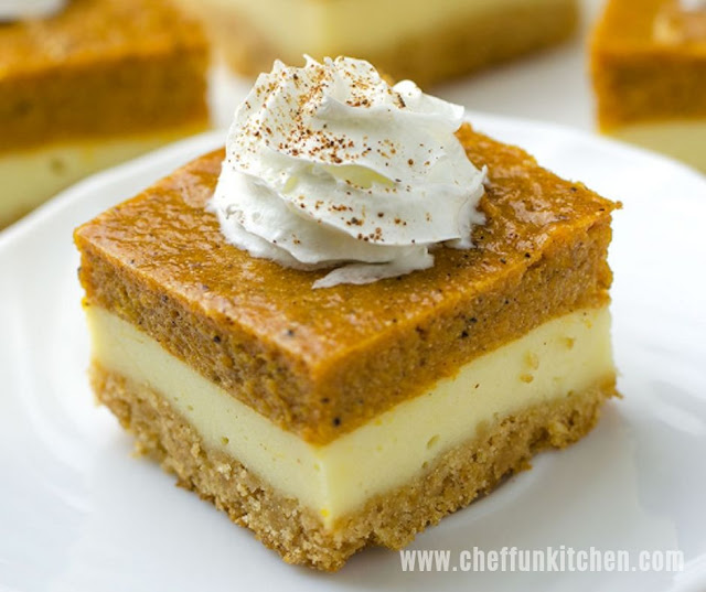 Delicious Pumpkin Cheesecake Bars