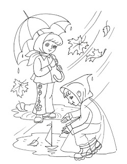 דפי צביעה גשם ראשון