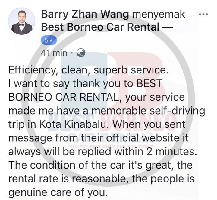 Servis Sewaan Kereta Dipercayai Sabah