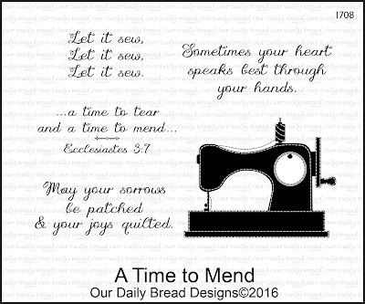 Our Daily Bread Designs Stamp Set: A Time to Mend