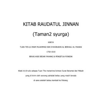 KITAB RAUDATUL JINAN