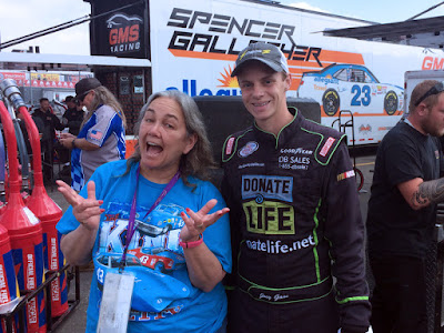 NASCAR Race Mom with #NASCAR Driver Joey Gase