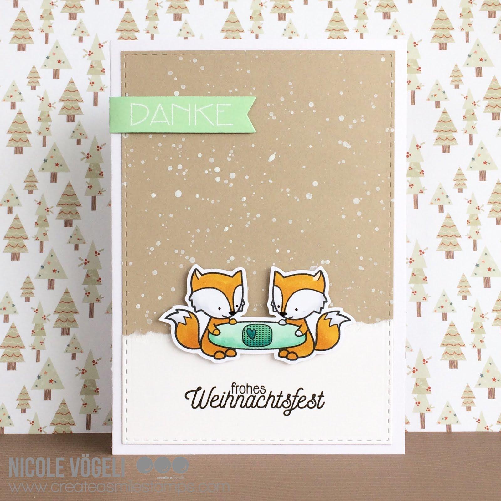 Frau Vögeli: Danke und fröhliche Weihnachten