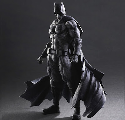 San Diego Comic-Con 2016 Exclusive Batman v Superman: Dawn of Justice Black and White Batman Play Arts Kai Action Figure by Square Enix