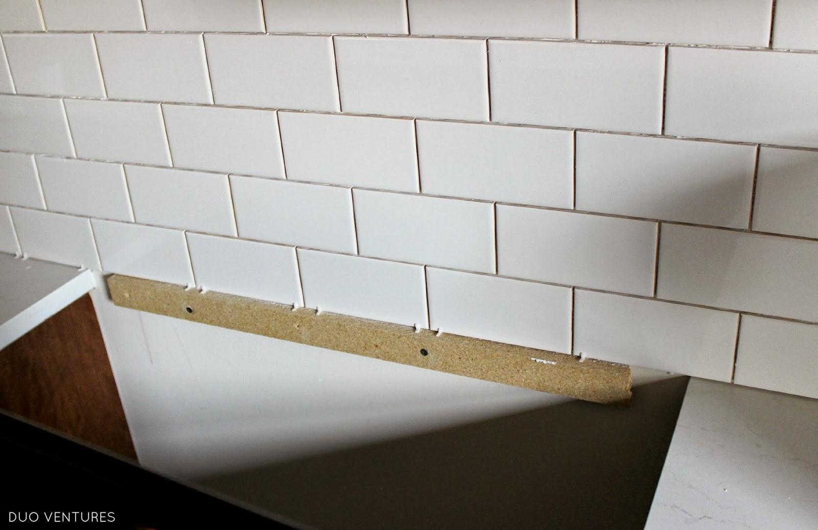 Duo Ventures: Kitchen Makeover: Subway Tile Backsplash
