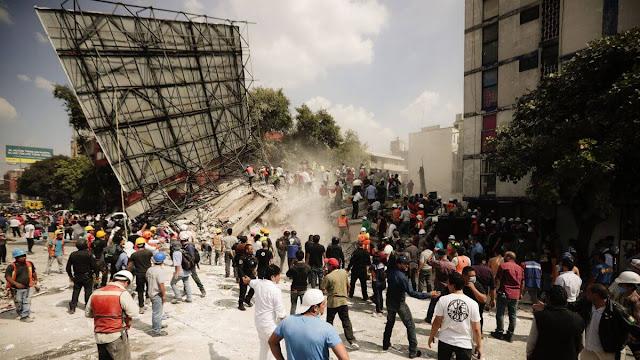 Nesta mesma data, 32 anos atrás, outro terremoto tirou a vida de mais de 10 mil mexicanos.