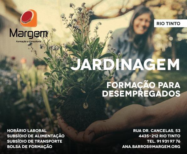 Cursos subsidiados para desempregados em Rio Tinto (Gondomar) – Jardinagem, Logística e Organização de Eventos