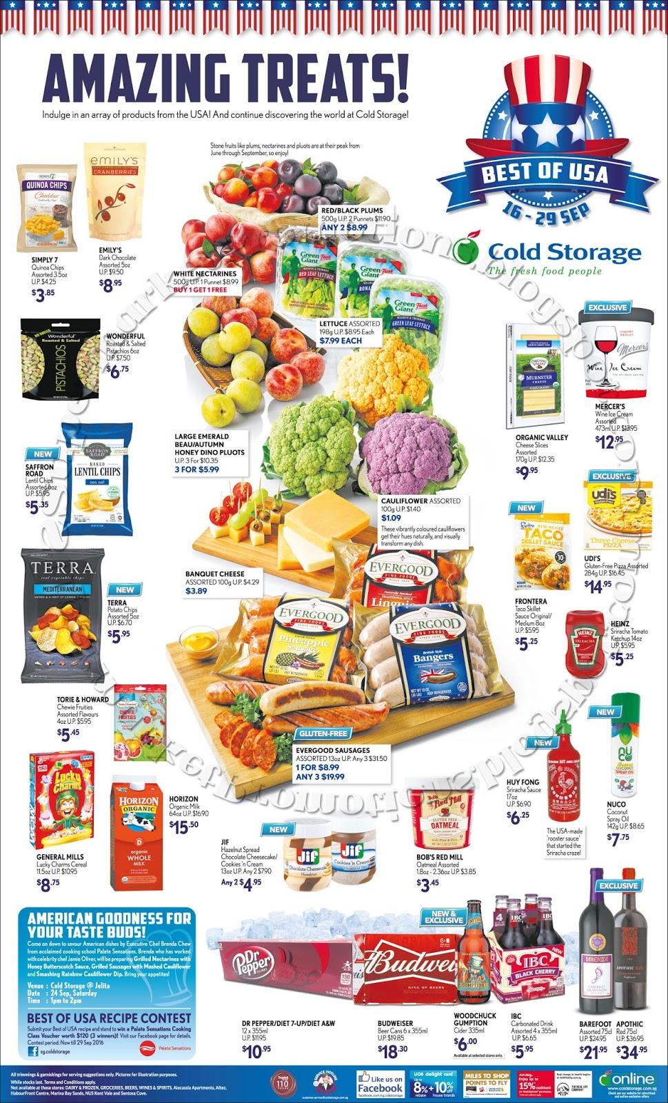 Cold Storage USA Fair  sc 1 st  Supermarket Promotions & Cold Storage USA Fair 16 - 29 September 2016 | Supermarket Promotions