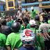 Tolak RUU Omnibus Law Cilaka, Ratusan Buruh di Mesuji Merangsek Kantor Bupati