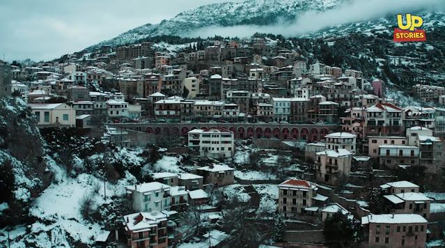 Αράχωβα - Η βασίλισσα του χιονιού (βίντεο drone)