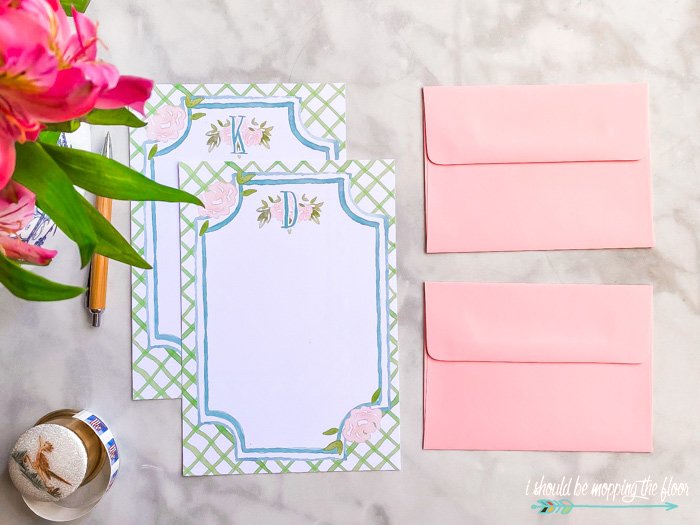 Preppy Stationery Printables