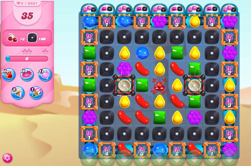 Candy Crush Saga level 9261
