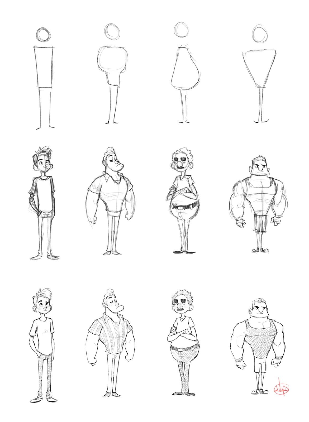 The Art Of Luigi Lucarelli Character Shape Sketching 1