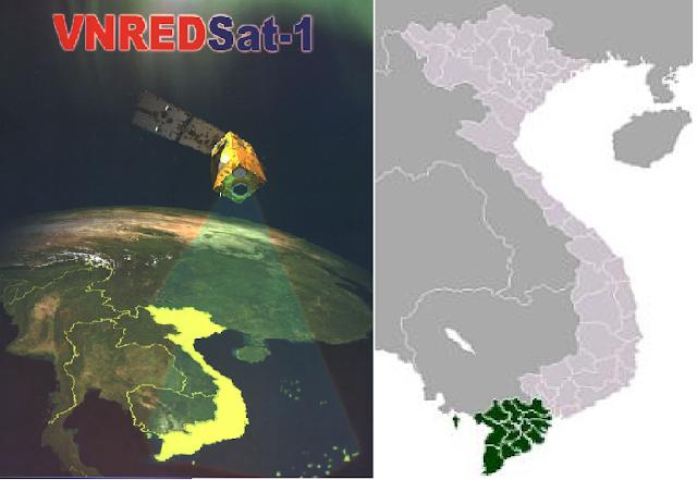 Photos of Vietnam and Mekong Delta taken by VNREDSet-1 satellite