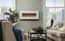 Touchstone Ivory Electric Fireplace