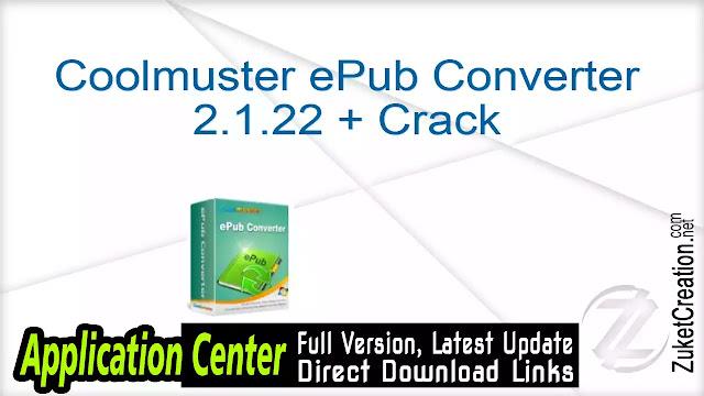 Coolmuster ePub Converter 2.1.22 + Crack