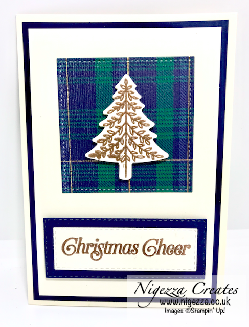 Nigezza Creates with Stampin Up Perfectly Plaid Christmas One Sheet Wonder
