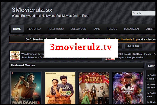 3movierulz.tv-Latest 2020 Bollywood Hollywood Movies 3movierulz tv