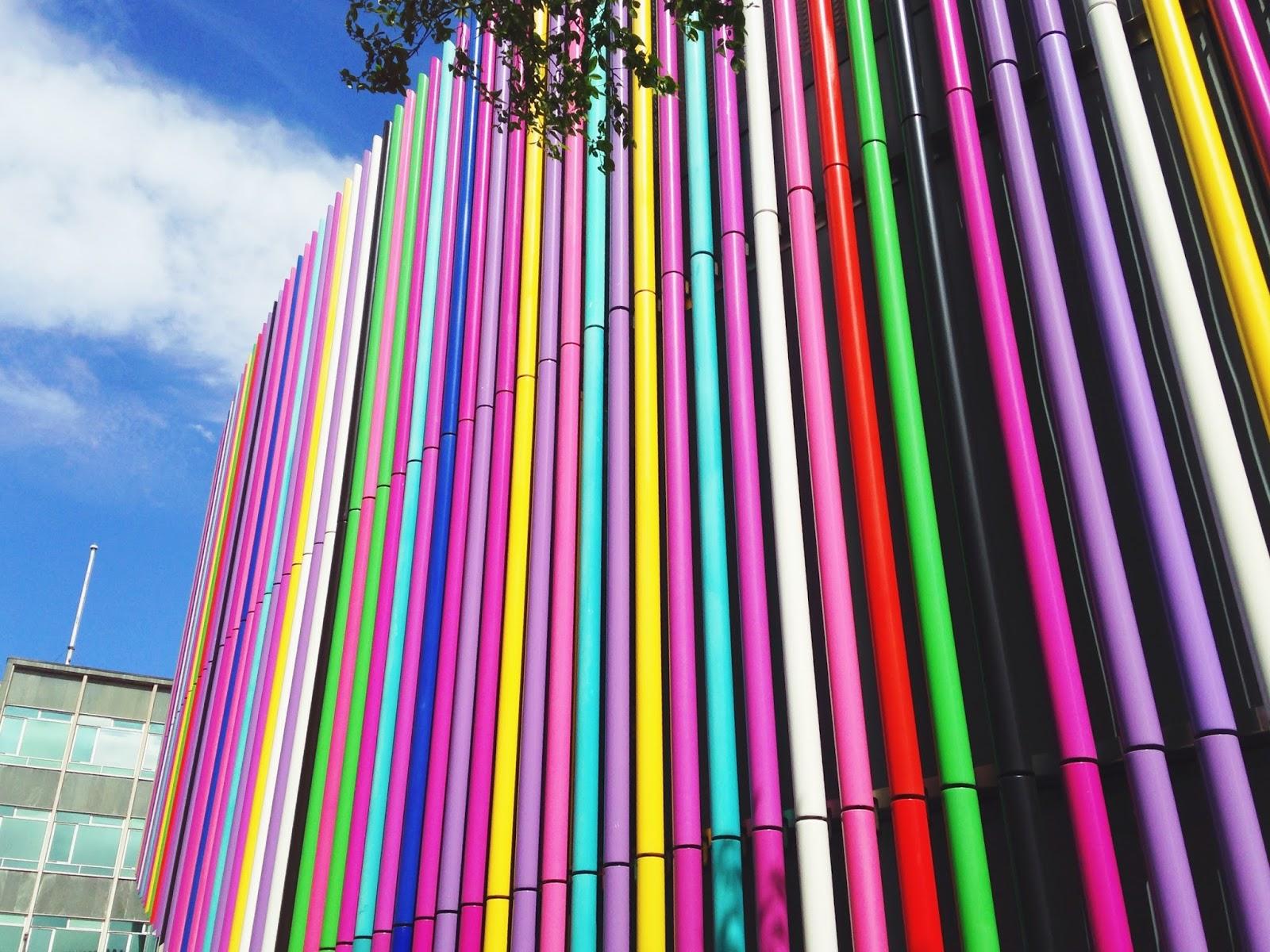 multicoloured architecture design