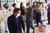 Hadiri Pelantikan Karateker Kepala Desa, Kapolsek Kalumpang Sisipkan Pesan Kamtibmas