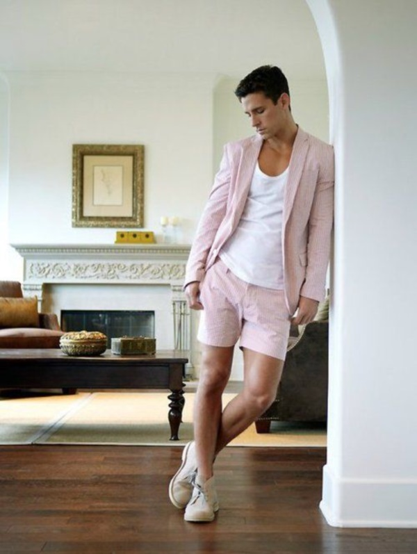 Look Masculino Rosa tons pastéis