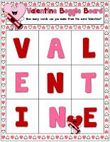Valentine Boggle Board