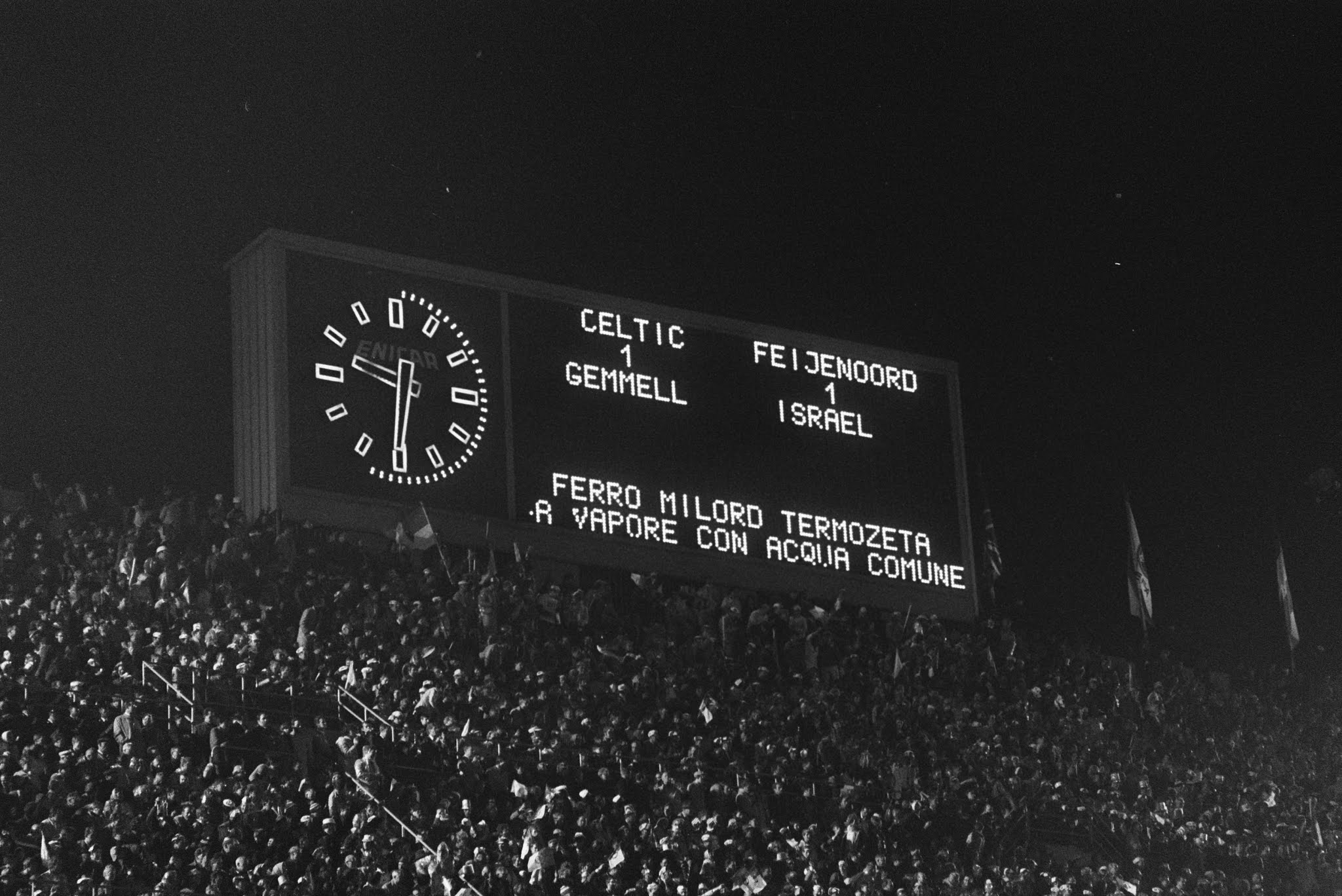 Tussenstand Europacupfinale Celtic - Feyenoord