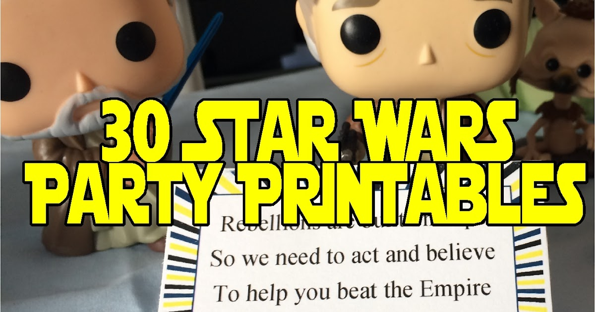 star wars party printables everyday parties