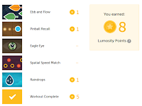 Lumosity Points Table