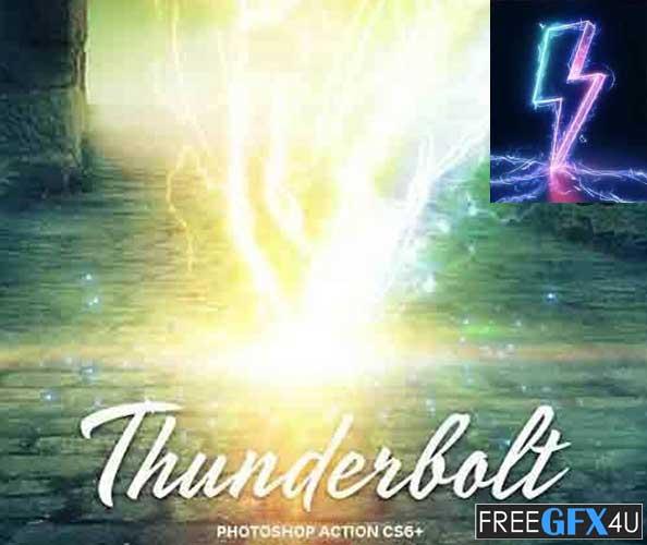 Thunderbolt Action for Photoshop CS6+