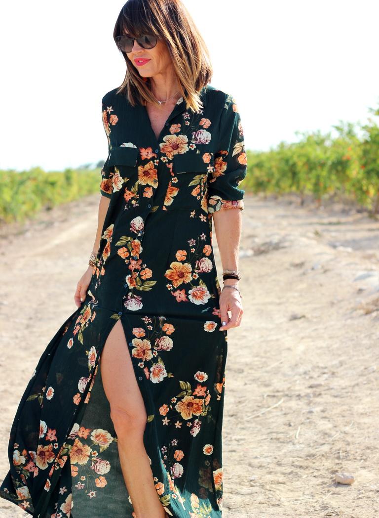 Menorquinas Popa  - Blogger - Vestido flores - Maria Mainez - Tendencias 2018