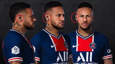 PES 2021 Faces Neymar Jr with Earrings by Rachmad ABs
